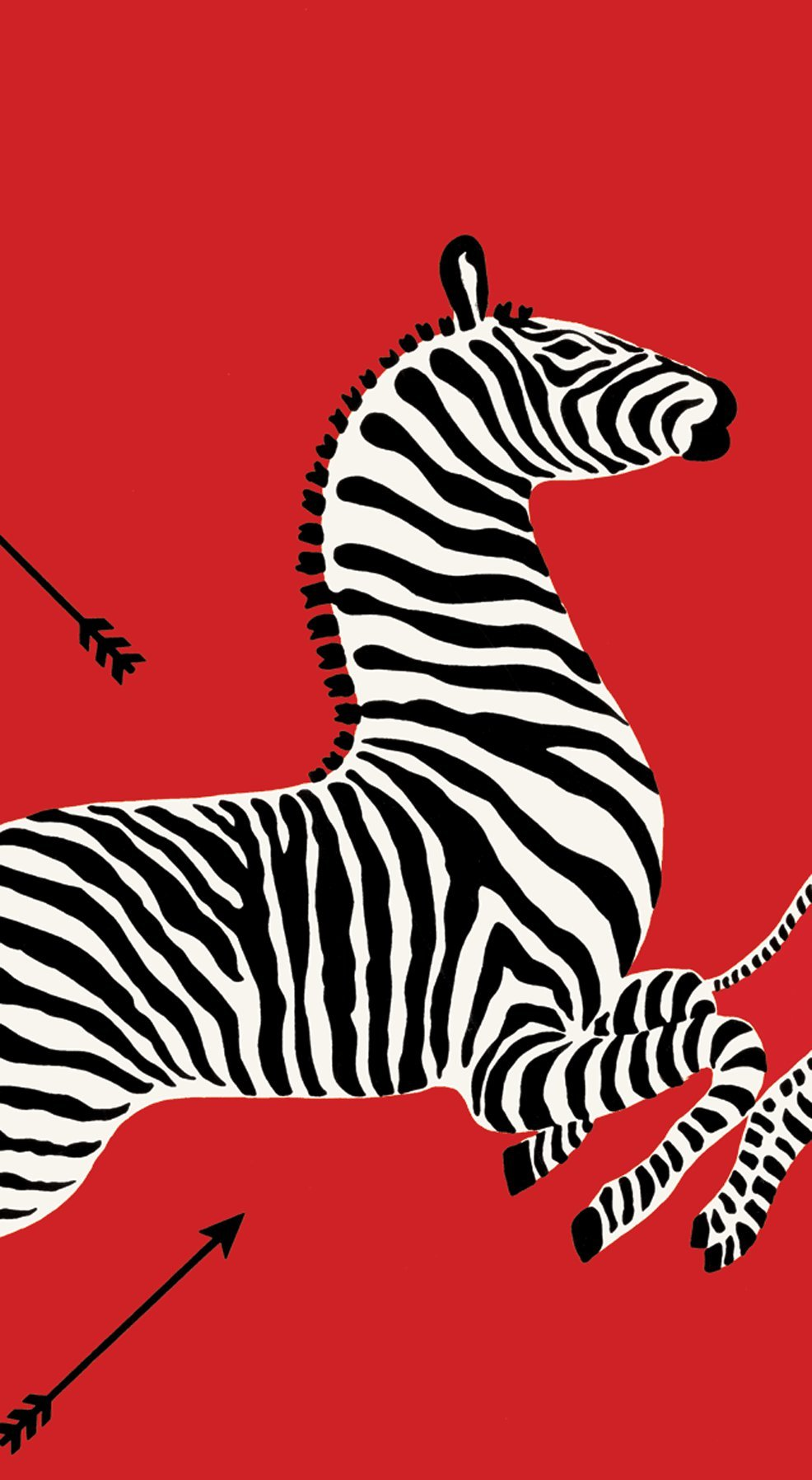 Entertaining with Caspari Guest Towels, Zebras Red, Pack of 15