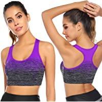 SaiYuan Women Racerback Sports Bras - High Impact Workout Gym Activewear Bra