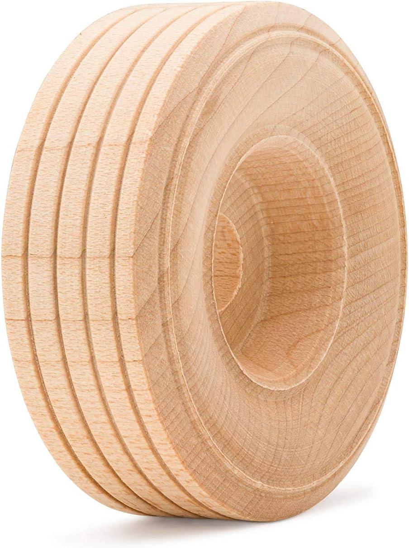 Woodpeckers/Ã/'/Â/® 50 Wooden Craft Toy Treaded Wheels 1 1//2 Inch W//1//4 Hole by Woodpeckers