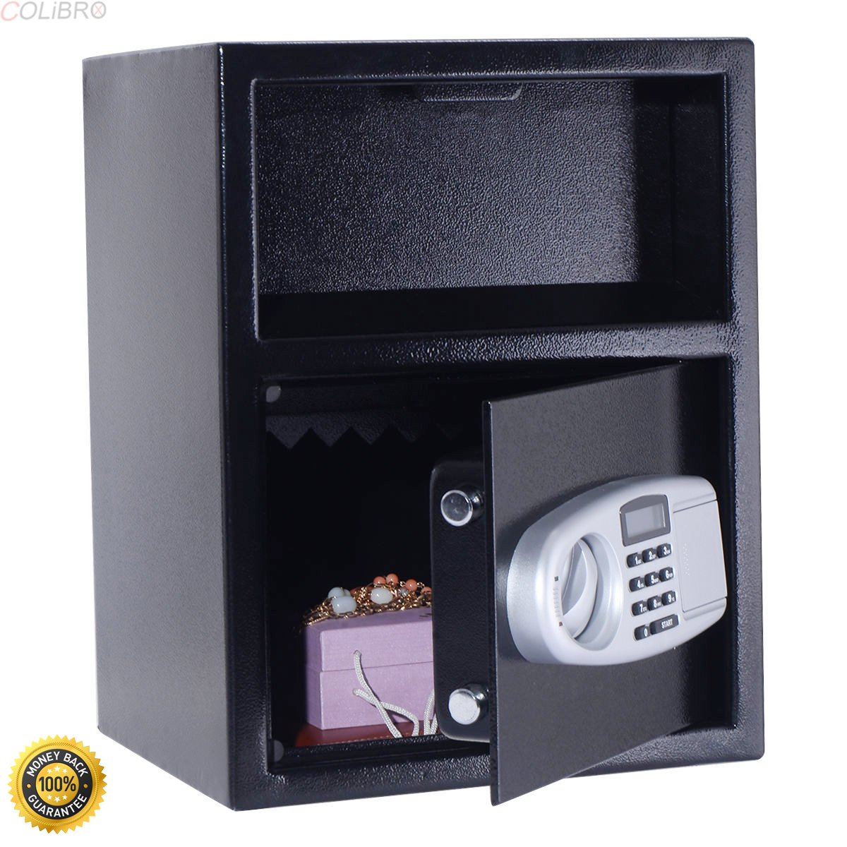 COLIBROX--Digital Safe Box Depository Drop Deposit Front Load Cash Vault Lock Home Jewelry,best gun safe,best gun safe 2017,compact gun safe,cheap gun safe,replacement lock for gun cabinet
