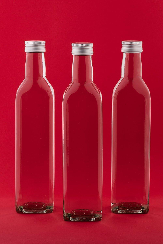 slkfactory 12Botellas vacías 500ml Mar Botellas de Zumo con Rosca, para Incluso SLK