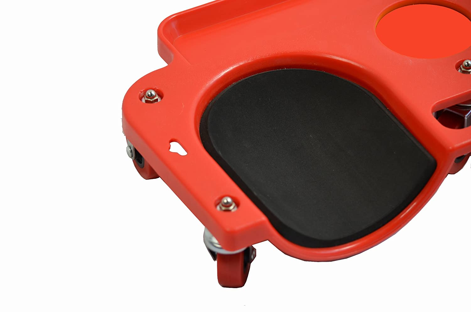 5 Swivel Castors MaxxHaul 80748 Rolling Knee Creeper//Pads with ABS High-Impact Frame Tool Tray and Holder