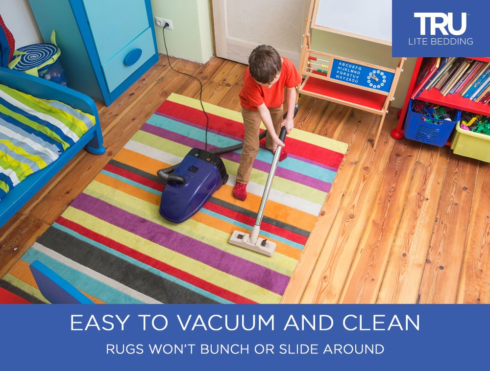 TRU Lite Rug Gripper - Non-Slip Rug Pad for Hardwood Floors - Non Skid Washable Furniture Pad - Lock Area Rugs, Mats, Carpets, Furniture in Place - Trim to fit Any Size - 2' x 8' by TRU Lite Bedding (Image #2)