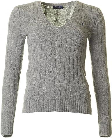 Polo Ralph Lauren Kimberly LS Sweat Femme Grey Taille