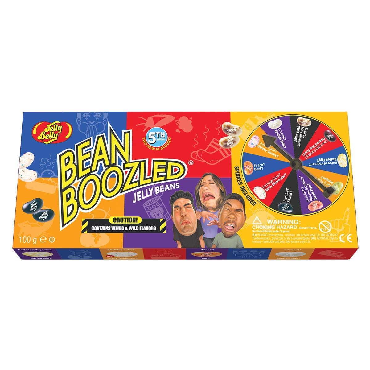 Jelly Belly Jelly Beans, Bean Boozled 5th Edition, Spinner Set - 100g