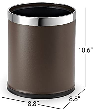 Perfect Brelso U0027Invisi Overlapu0027 Metal Trash Can, Open Top Small Office Wastebasket,