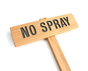 NO SPRAY, Garden Sign: Hand Routed, Custom Garden Sign, Personalized Garden Marker, No Spray Zone, Pesticide Free Area, Outdoor Sign