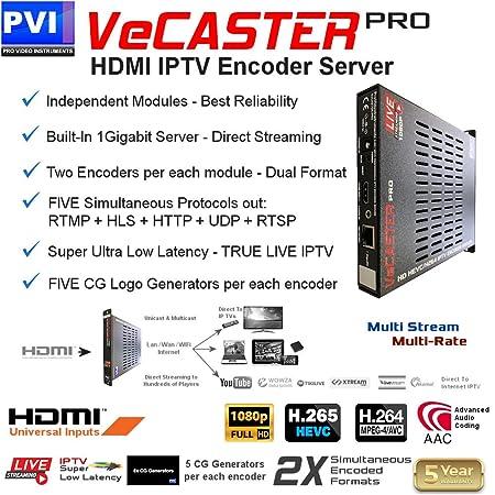 Amazon com: VECASTER HEVC - HDMI HEVC H 265 H 264 IPTV Encoder for