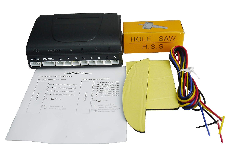 8 Sensors Car Parking Sensor Auto Reverse Rear Backup Radar Stop Park Assistance Kit Buzzer Alarm Monitor Gray