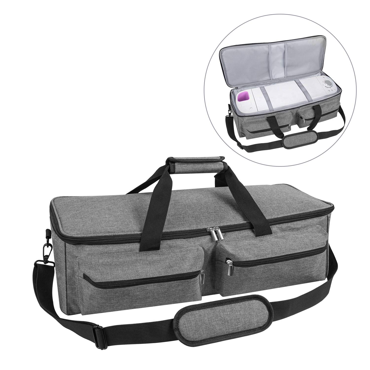 JOYPEA Carrying Bag Compatible with Cricut Explore Air and Maker, Tote Bag Compatible with Cricut Explore Air and Supplies (Bag Only), Made of Heavy-Duty Nylon,Gray (Grey)