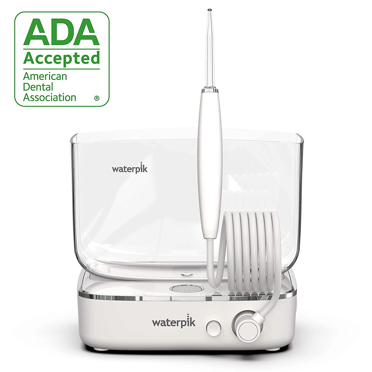 Waterpik Sidekick Portable Water Flosser Perfect for Travel Home, White Chrome