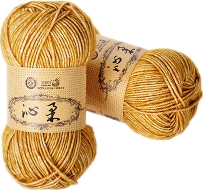 2 Madejas hilo de mano tejer algodón crochet hilo de bebé de ...