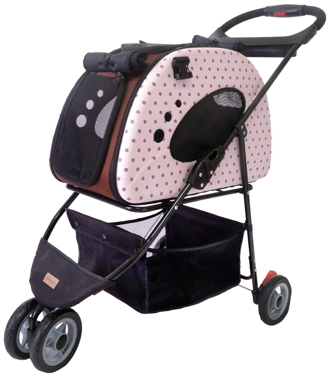 Petzip FS1211-P Mochi Carrier Stroller, Pink, Small