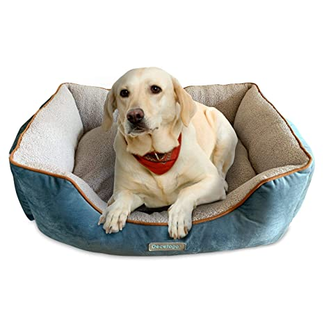 Docatgo Camas para Perros, Cama para Mascotas 80x60x25cm, Perros De Perrito Sofa con Suave