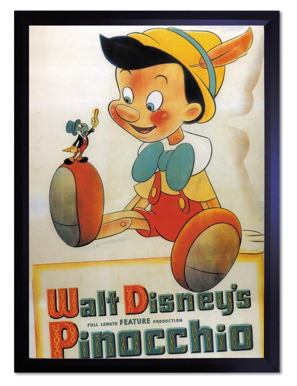 【DXポスター】ディズニーポスター Disney ピノキオ レトロP-A2-POP-DSNY-0022-wh P-A2-POP-DSNY-0022-wh B073SGTS3M A2サイズ(59.4cm×42cm)+ホワイトフレーム A2サイズ(59.4cm×42cm)+ホワイトフレーム