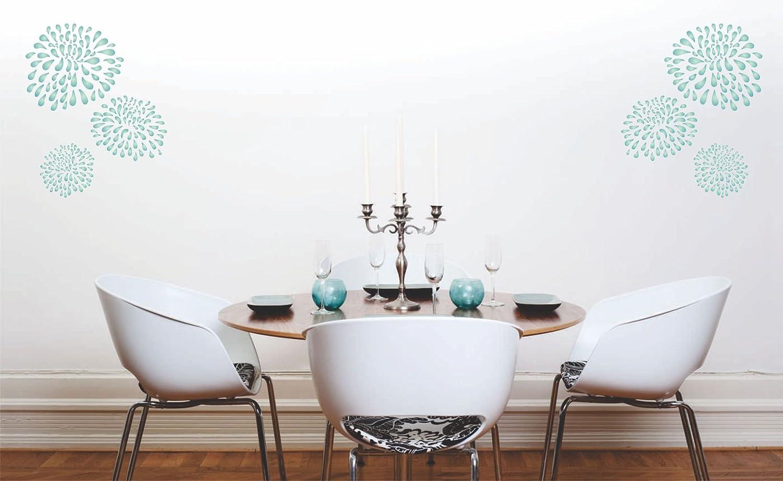 Chrysanthemum Schablone – wiederverwendbar Groß Fancy Fancy Fancy Blaumen Wandbild Wand Schablone – Vorlage, auf Papier Projekte Scrapbook Tagebuch Wände Böden Stoff Möbel Glas Holz etc, L B07FZZ6QNZ | Verpackungsvielfalt  cf0925