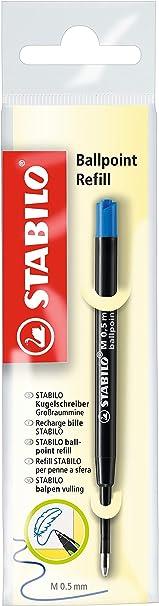z.B f/ür STABILO pointball und SMARTball STABILO Ballpoint Refill Kugelschreibermine 10er Pack rot