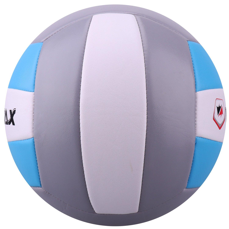 Volleyball - Balón de Voleibol de Playa, Talla 5 (Azul/Gris ...
