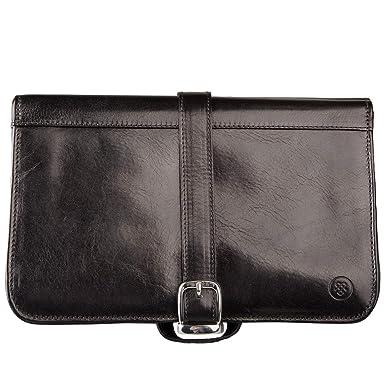 e2db8875a824 Maxwell Scott Quality Italian Leather Dopp Kit - Pratello Black