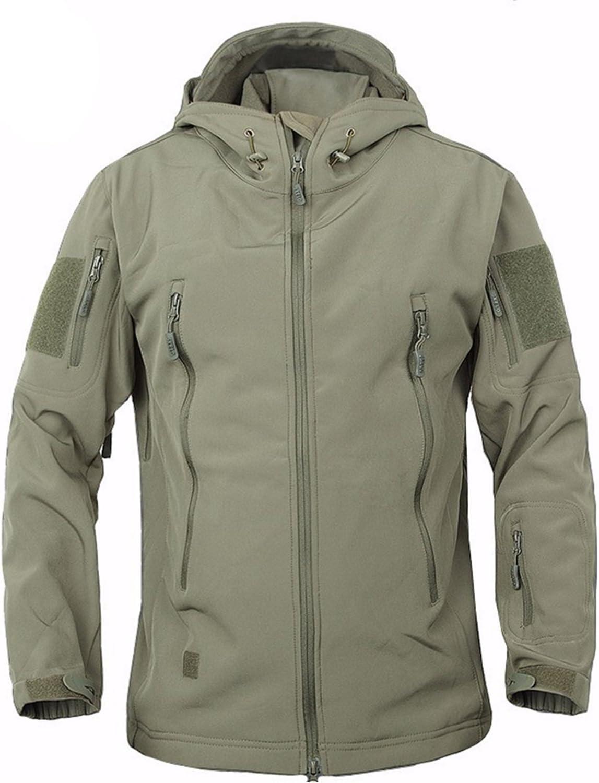 Veste de combat Belloo pour homme en tissu softshell imperm/éable doubl/é polaire avec capuche