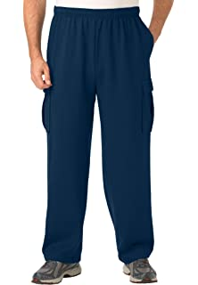 KingSize Mens Big & Tall Fleece Cargo Pants