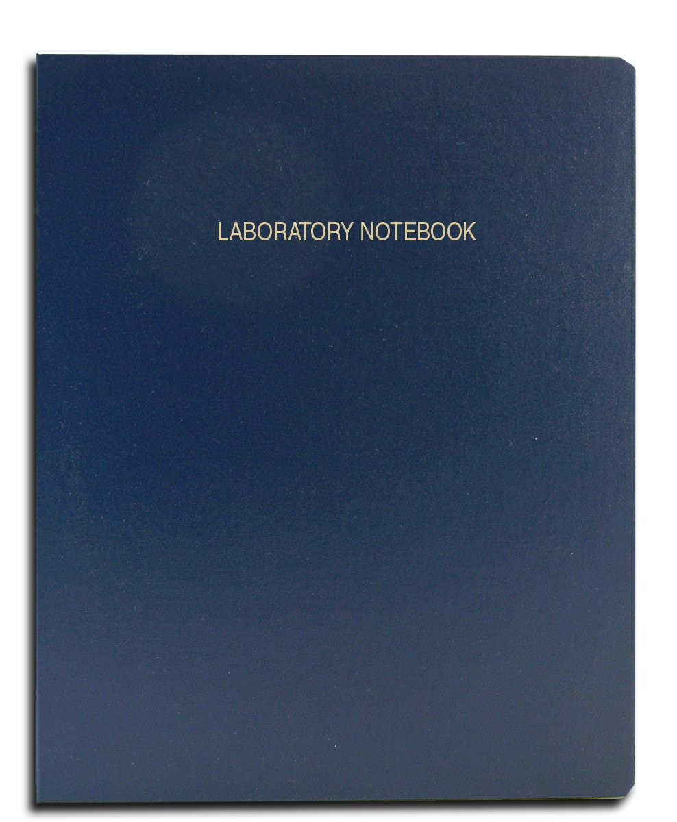 BookFactory Economy Blue Lab Notebook - 96 Pages (Grid Format) 8 7/8'' x 11 1/4'' Flexible Blue Cover Laboratory Notebook (E-LIRPE-096-LGR-A-LBT1) by BookFactory