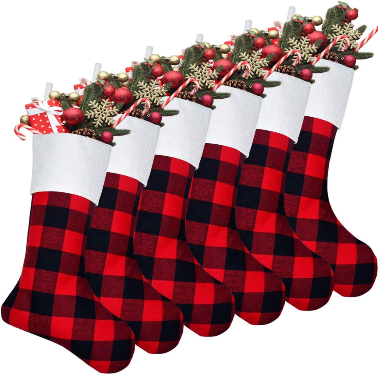 "18/"" Large Size Buffalo Plaid Classic Stockings Christmas Party Xmas Decorations"