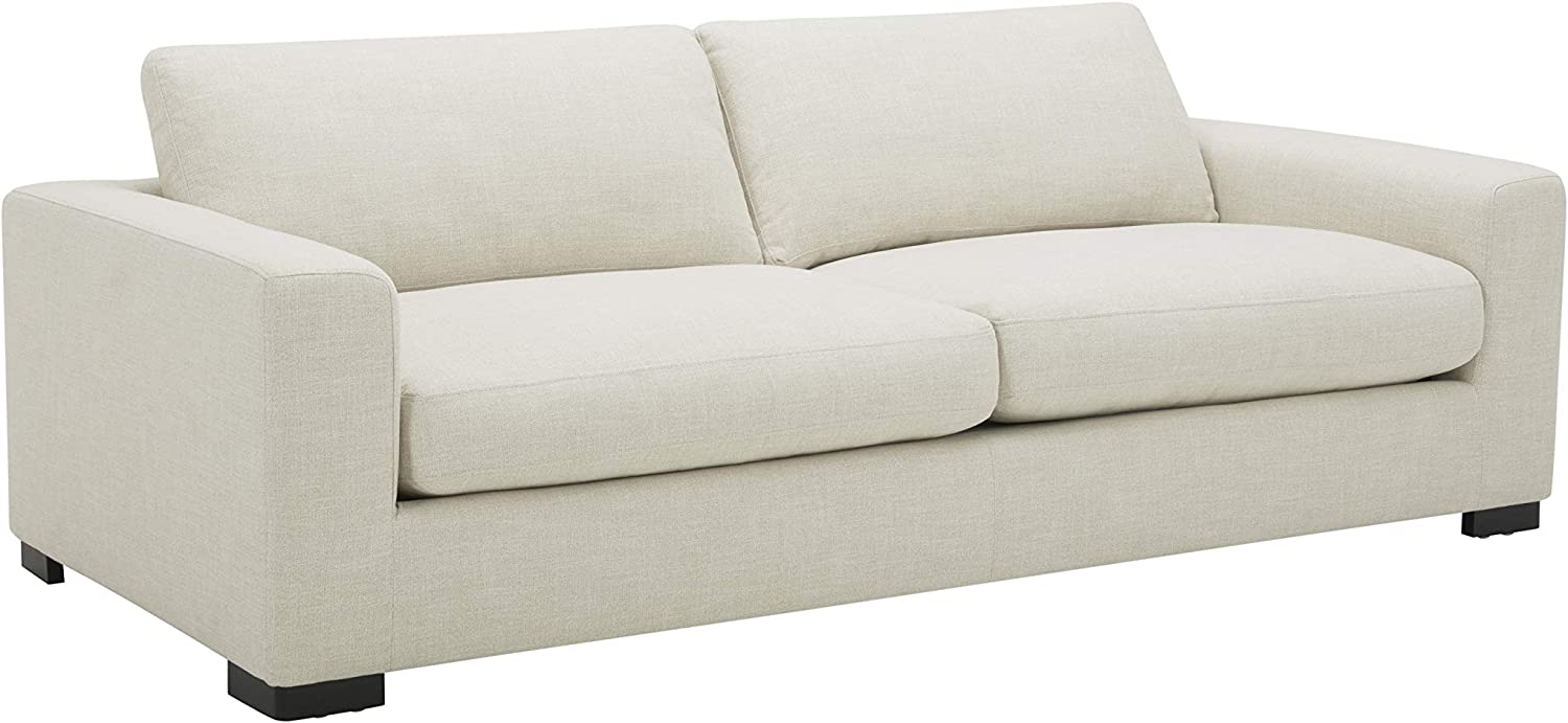 "Amazon Brand - Stone & Beam Westview Extra-Deep Down-Filled Sofa Couch, 89""W, Cream"