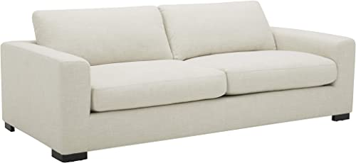 Amazon Brand Stone Beam Westview Extra-Deep Down-Filled Sofa Couch, 89 W, Cream