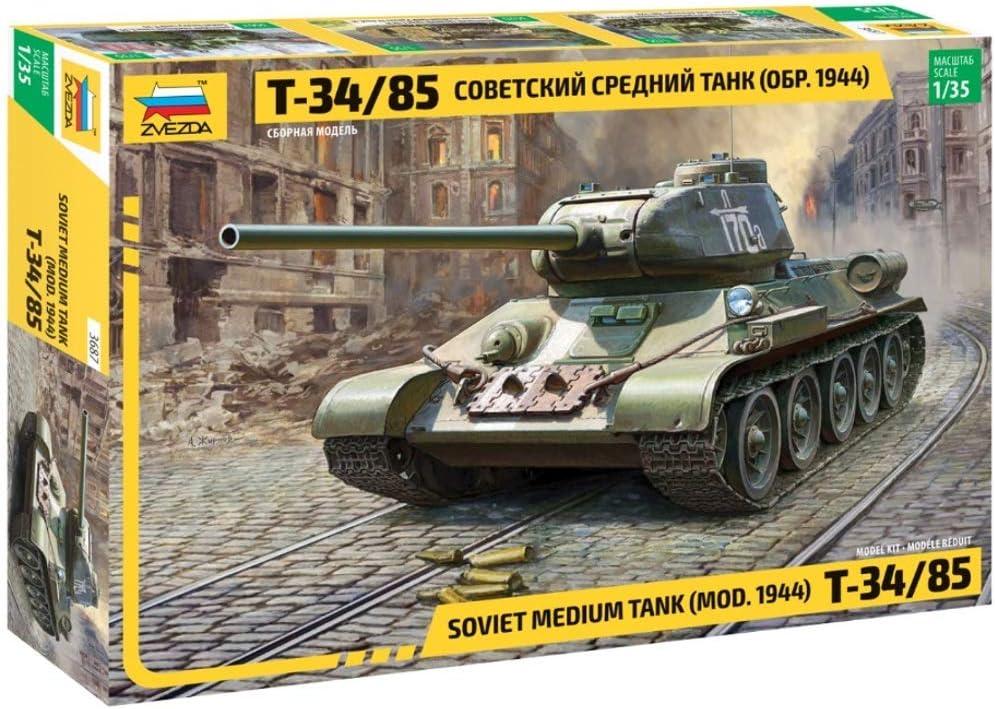 Soviet Tank T 34 85 WW2 Russian Military Model Plastic Building Kits scale 1:35