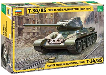 Zvezda 3687 500783687-1:35 T-34/85 Soviet - Tanque Mediano ...