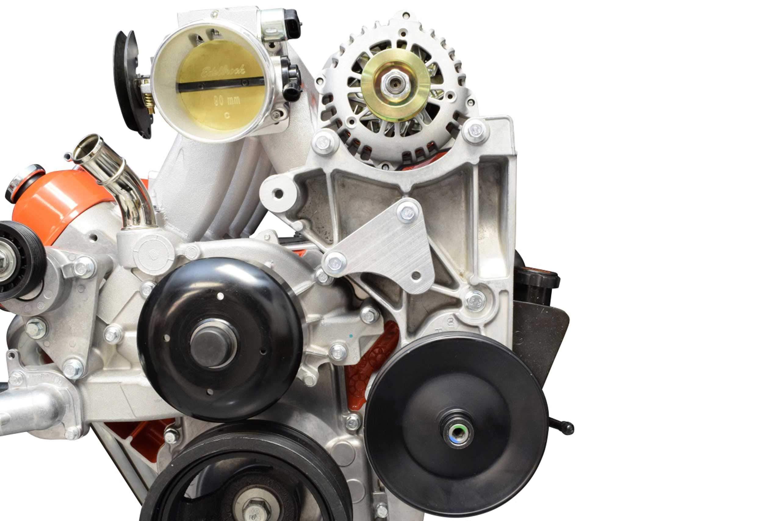 ICT Billet LS Idler Pulley Relocation Bracket for LS1 Intake Swap LQ4 LQ9 LSX 4.8L 5.3L 6.0L Truck Bracket Alternator Power Steering 551353 Billet Aluminum Made in USA