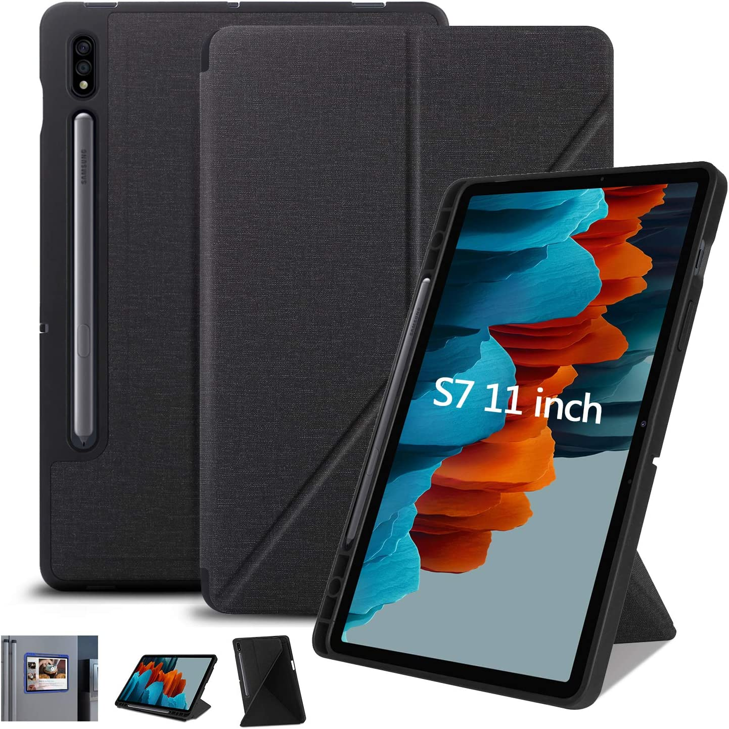 Case for Samsung Galaxy Tab S7 11 inch 2020 Slim Folding Stand Case MultiViewing Angles Soft TPU Back Cover for Samsung Tab S7 11 inch Tablet SMT870T8 at Kapruka Online for specialGifts