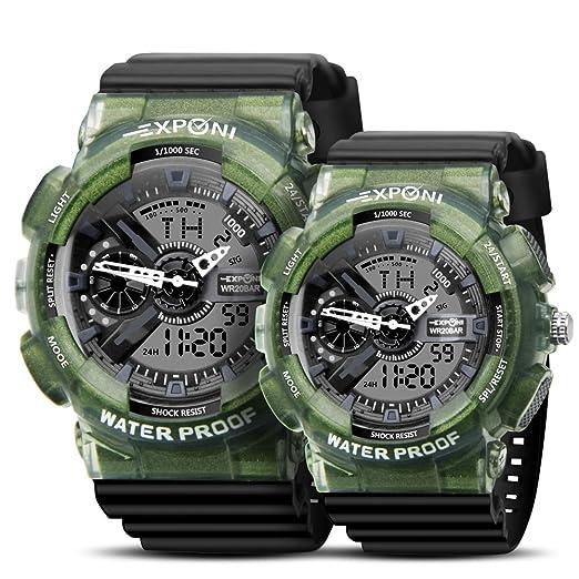 Reloj de pulsera para niños y niñas con movimiento japonés resistente a los golpes, resistente al ...