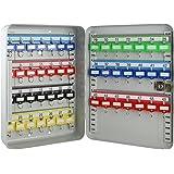 HMF 130497Armoire à clés Barres 49crochets réglables, 32,0x 23,0x 7,5cm, gris clair