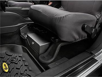 Bestop 42640-01 HighRock 4x4 Under Seat Lock Box for 2007-2017 Wrangler JK Does not fit 2011-2017 Wrangler JK 2-Door models Driver side