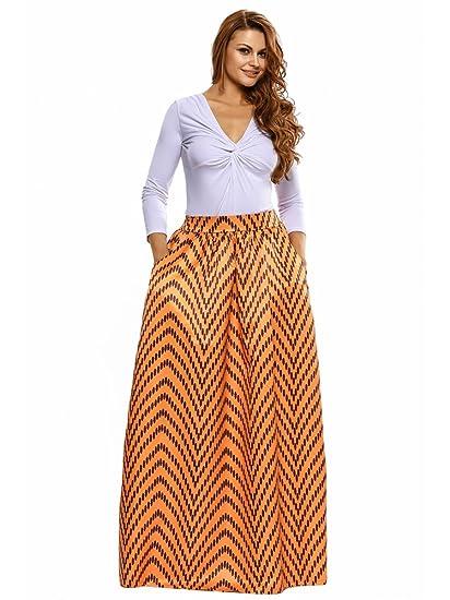 f895d7a893 La falda está diseñada con materiales de 65% poliéster y 35% spandex.  Cuenta con un diseño de cintura alta con banda elástica