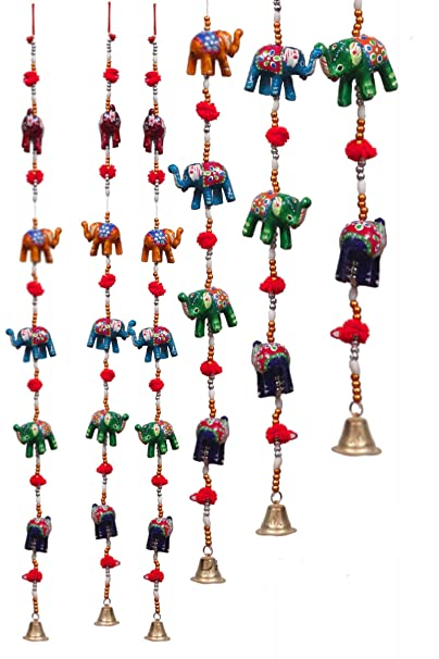 DreamKraft 'Rajasthani' Elephant Door Hangings For Main Door Home Decor (96 CM) -Set of 2