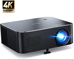 Projector, APEMAN Native 1080P HD Video Projector, 300'' LED Home Theater Projector, ±25°Remote Electronic Keystone Correction, 75% Zoom, Support 4K Movie, HDMI/USB, for iPhone/Fire Stick/PC/Xbox/TV