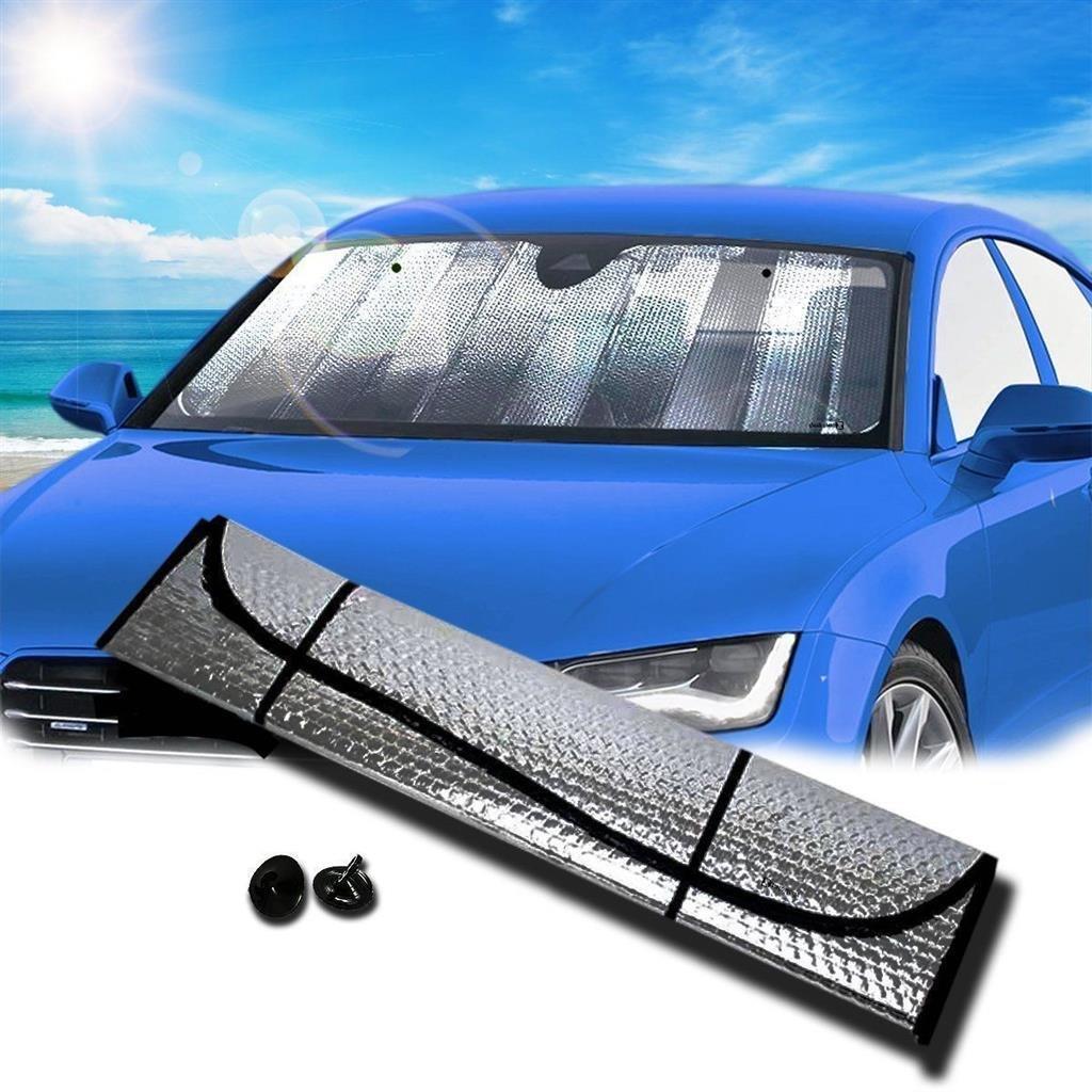 DOBO® Parasole per Auto parabrezza anteriore Sole macchina Freddo 80 x 150 cm anti UV argento DOBO®