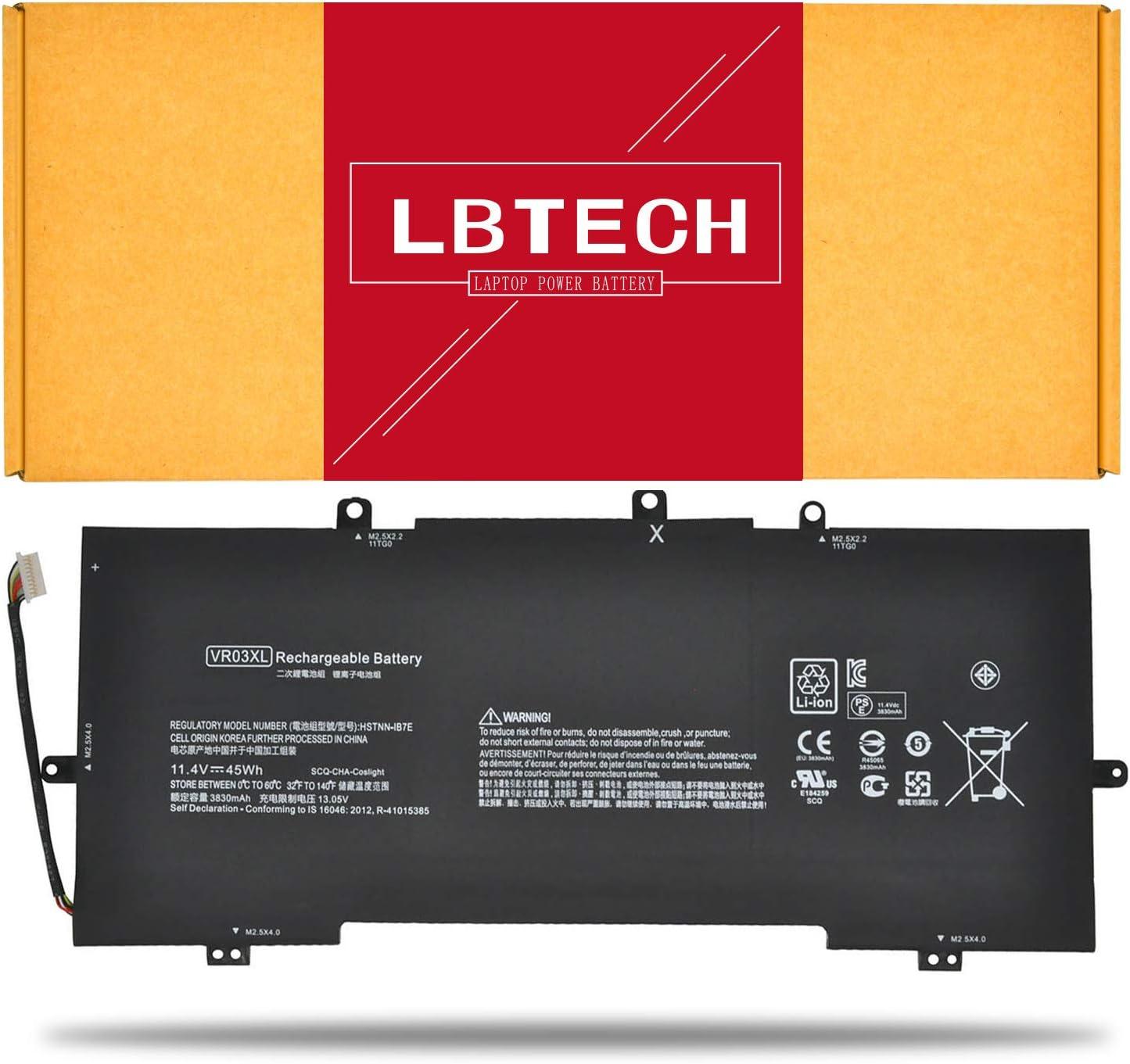 LBTECH VR03XL Compatible Laptop Battery Replacement for HP Envy 13-D000 13-D000NG 13-D002NG 13-D003NG 13-D004NG 13-D103TU 13-D110TU 13-D131TU 11.4V 45Wh