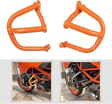 Duke 390 Zubehör Sturzbügel Crash Bars Motorschutz Stoßstange Puffer Highway Rahmenschutz Für K Tm Duke 390 2013 2019 Duke 250 2017 2018 2019 Orange Auto