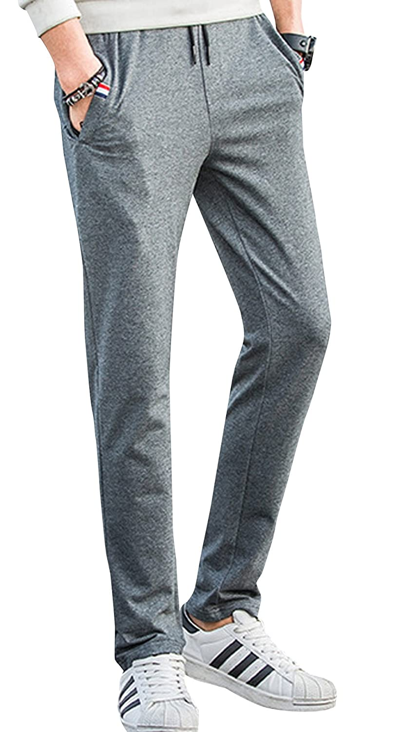 LETSQK Men's Track Gym Athletic Jogger Running Pant with Pockets