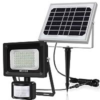 Projecteur solaire Détecteur de Mouvement 400LM 6000K MEIKEE Lampe solaire Extérieur 60LED Étanche IP66 spot de sécurité idéal pour terrasse, escalier, balcon, garage, entrée de maison, grenier