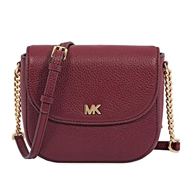 wholesale price deft design enjoy cheap price Michael Kors Mott Pebbled Leather Dome Crossbody - Oxblood