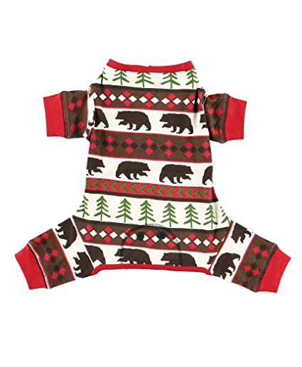 d0b9bc9dd Amazon.com   Red Bear Fair Isle Dog Flapjack Onsie Sweater by ...