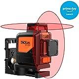 Tacklife SC-L04 Professionnel Niveau Laser Croix 30 m/Laser Rouge Horizontal et Verticale/Grand Angle de 360°/Mode Intérieur et Extérieur/Verrouillable/Support Pivotant Magnétique