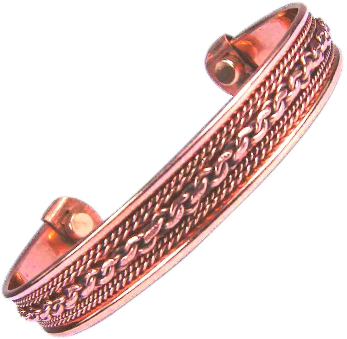 Amazon Com Apex Copper Bracelet Wide Link Size 9