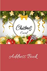 Christmas Card Address Book: Mailing Address Log Book and 10 Year Christmas Card Tracker With Tabs (Red) Paperback