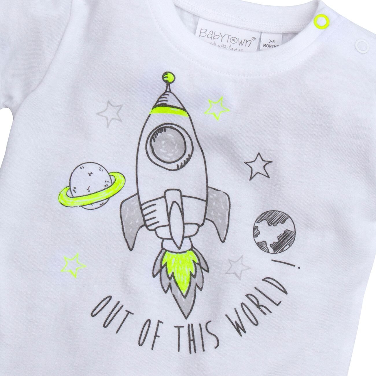 BABY TOWN Babytown Baby Boys Space Short Sleeved T Shirt /& Jog Pants Set